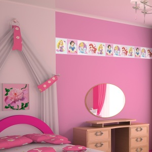 Interior decorado con Cenefa Looney Tunes 6123