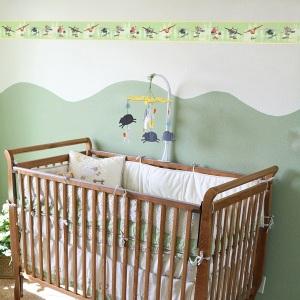 Interior decorado con Cenefa Aviones PL3507-2