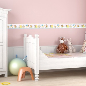 Interior decorado con Cenefa Winnie the Pooh WP3510-1